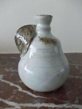 vase en forme de poire en grès vernissé signé ACB no CAB