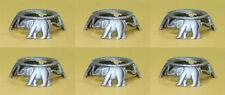 6 Pewter 3 Elephants Hen Egg Stands Holders Displays,Pysanka Stand Holder #6P