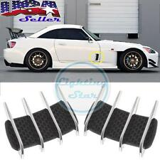 2pcs Car Hood Side Flow Vent Fender Intake Grille Air Net Door Decal Stickers