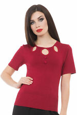 Keyhole Semi Fitted Regular Size Tops & Shirts for Women