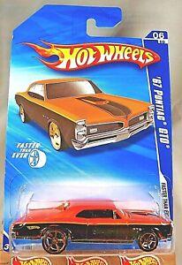 2010 Hot Wheels #134 Faster Than Ever 6/10 '67 PONTIAC GTO Orange/Black w/FTE Sp