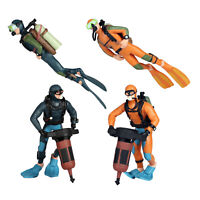 In miniatura Diver Action Figure Scena di Immersione Subacquea Mare