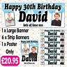 PERSONALISED 2 PHOTO BIRTHDAY PARTY BANNER PACKS ANY AGE NAME EVENT A009