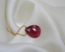 Halskette mit Rubin Anhänger Vergoldet oder Silber925