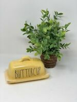 "NEW 2021 ceramic Rae Dunn ""Buttercup"" butter dish YELLOW. VHTF, HTF, RARE"