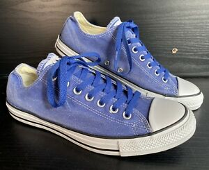 Mens CONVERSE Chuck Taylor Basic Wash Ox in Blue Canvas Low Shoes Unworn- 9.5 UK