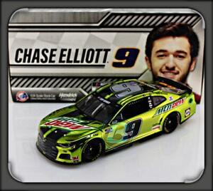 "2020 CHASE ELLIOTT #9 MOUNTAIN DEW COLOR CHROME CHEVY CAMARO 1:24 ""168 MADE"""