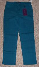 GLORIA VANDERBILT Teal Color Denim Classic Fit Tummy Slimmer Jeans Size 14P NWT