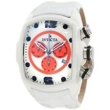 INVICTA LUPAH CHRONOGRAPH DATE CERAMIC CASE WHITE LEATHER STRAP WATCH 10283 NEW