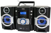 NAXA BOOMBOX PORTABLE MP3/CD PLAYER with PLL FM RADIO USB INPUT REMOTE CONTROL