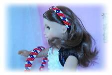 "New set GIRLS + MATCHING 18"" American girl DOLL grosgrain RIBBON HEADBAND CHOICE"
