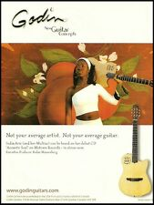 India Arie Acoustic Soul Godin Multiac Nylon SA guitar ad 8 x 11 advertisement