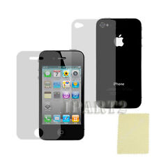 Clear Front + Back Screen Cover Shield Protector for Apple iPhone 4 4G 4S