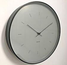 Grey and Black Wall Clock Large Karlsson