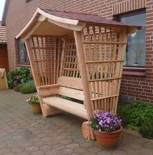 Rosenbank, Gartenlaube aus Lärchenholz für Garten.,.,.Sitzmöbel.