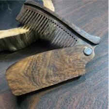 Black Sandalwood Folding Comb Fine Tooth Pocket Fit Classic Wood Beard Mustache