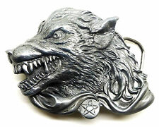 Snarling Wolf Belt Buckle 3D Horror Themed Authentic Great American Products