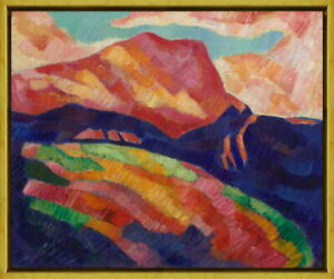 Framed Marsden Hartley Mont Sainte Victoire Giclee Canvas Print Paintings Poster