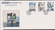 GB - JERSEY 1993 Europa 93' Contemporary Art SG 625/7 FDC ART