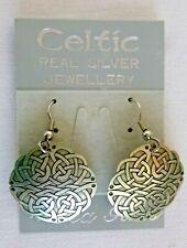 Celtic Knots Dangle Earrings Sterling Silver 5.3 Grams Original Card Pierced