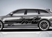 2x Design Future Grafik Seitenaufkleber 190cm Auto Aufkleber Tuning Folie Decal