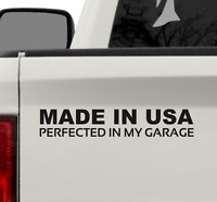 Made In USA Vinyl Bumper Sticker Decal American Car Sticker