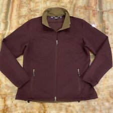 Women's Ibex Made In Canada Climawool Burgundy Zip Up Soft Shell Jacket Sz: L