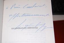 Dedicacé;  La bicyclette bleue Tome 9, Les Généraux du crépuscule,1960-62; 2003