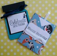 Handmade Paper Gift Card Holders - Blue Boy Themed - Lot Of 2