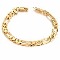 18K Yellow Gold Miami Cuban Link Bracelet, For Men/Women, Franco, Rope Curb