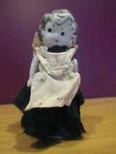 """Vintage small bisque 3.5"""" frozen charlotte side glancing maid boop"""