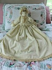 Discounted Vintage Handmade Rag Doll Folk Art Cloth Doll 28""