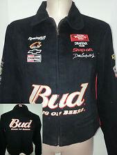 NWT DALE EARNHART #8 Chase Nascar Womens Racing Jacket Coat Black Sz L Large