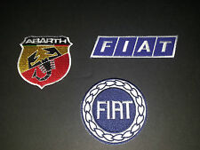 SET OF THREE MOTOR RACING SEW/IRON ON PATCHES:- FIAT