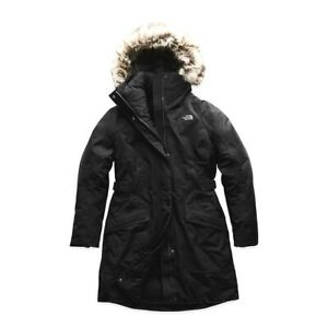 New The North Face Womens Athletic Outer Boroughs Parka Hooded Hiking Coat S