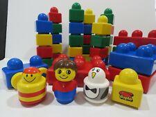 39 Parts Lego Baby Duplo Primo Building Block Lot Car People Animal Rare B3044
