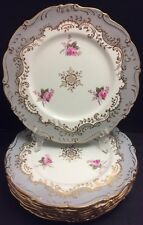 "BEAUTIFUL COALPORT *MASTERPIECE* PATTERN 1 DINNER PLATE(S)10 2/3"" GREY~GOLD~ROSE"