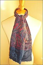 VINTAGE RETRO 1960'S MOD PSYCH PAISLEY PATTERN SCOOTER SCARF CLOTHES ACCESSORIES