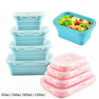 Portable Travel  Picnic Collapsible Silicone Foldable Lunch Box Food Container