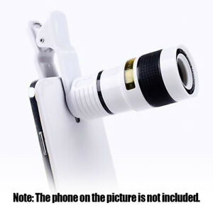Phone Camera HD Lens Universal Clip-on 12X Zoom Cell Phone Telescope Lens J2W0