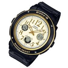 Casio Baby-G Womens Wrist Watch BGA151EF-1B  BGA-151EF-1B Black Gold Analog-Digi
