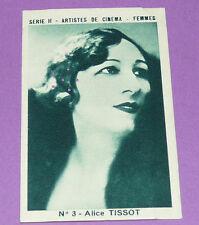 RARE CHROMO PHOTO 1933 JOSEPH-MILLIAT ACTRICES CINEMA ALICE TISSOT