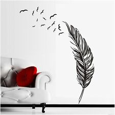 One Feather Birds Removable Wall Stickers Wall Decals Wall Decor Vinyl Art Mural