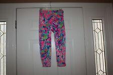 Lilly Pulitzer Luxletic High Rise Capri Crop Leggings Pants Gumbo Limbo Print XS