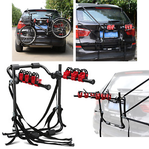 3 BIKE CARRIER FOR CAR TRUNK MOUNT RACK BICYCLE STAND CARRIER UNIVERSAL CAR RACK