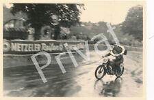 Foto Motorradrennen Puch 125 ccm Sieger Tübingen 1950 Metzeler Werbung A1.32