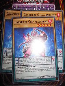 YU-GI-OH! COM LOT CAVALIERE CHEVALIARDENT X3 (PLAYSET) DOCS-FR030 MINT FR NEUF