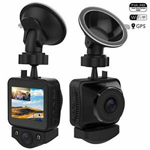 OnReal Dual 1080P WiFi Dash Cam, Front Dashboard and Cabin Car Camera, Driving