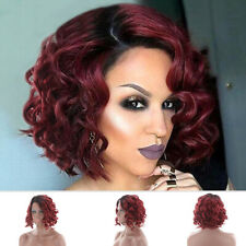 Fashion Short Curly Wavy Ombre Wig Synthetic Hair Cosplay Pop Party Fancy Dress