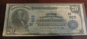 1902 $20 First National Bank of Princeton, IL  Charter 903 PB